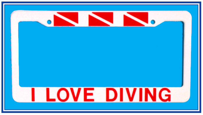 I Love Diving Frame