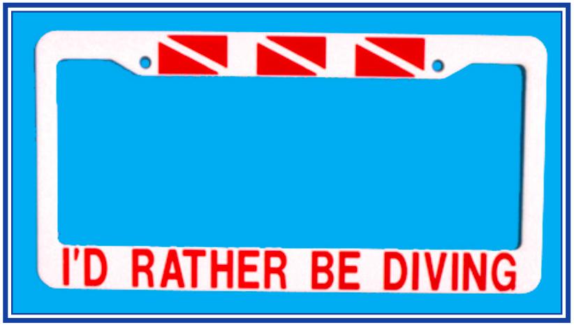 I'd Rather be Diving Frame