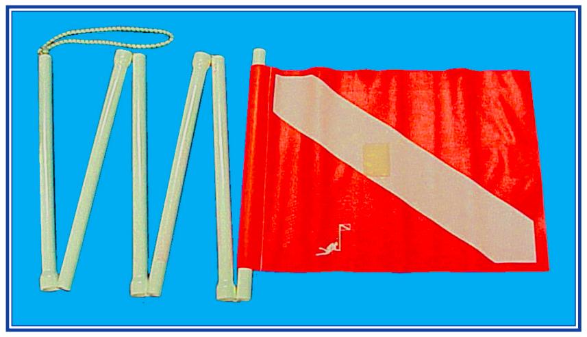 Trident Fold Up Divers Alert Flag