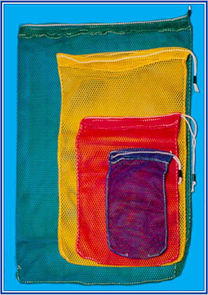 Trident Drawstring Mesh Bag