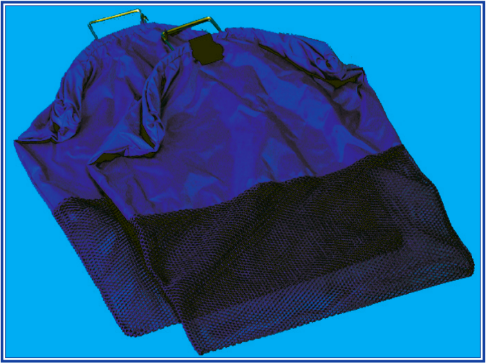 Trident Nylon Top/ Mesh Bottom Collection Bag