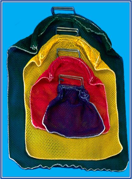 Trident Mesh Bag - Galvanized Wire Handle