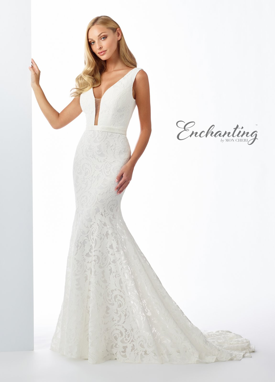 Trendy Corded Lace Trumpet Gown