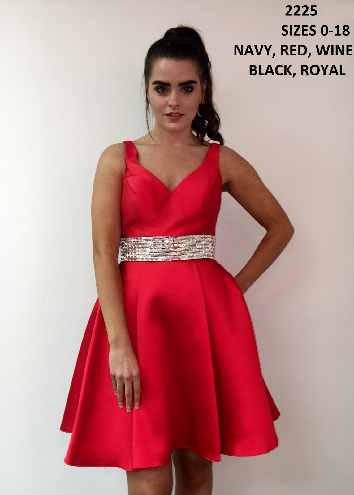 Red HOCO with silver belt