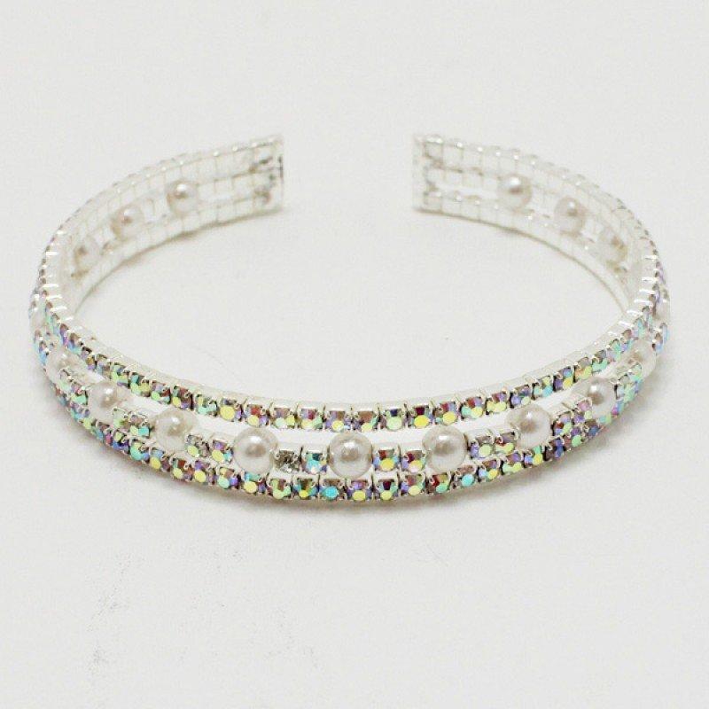 Silver Pearl Iridescent Rhinestone