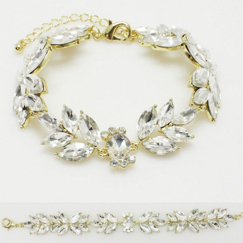 Gold Clear Rhinestone Bracelet