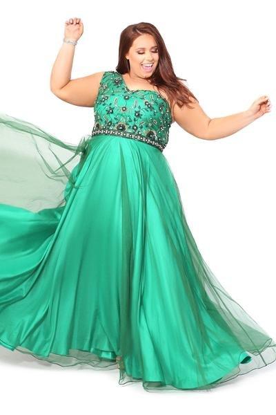 Enchanting One-Shoulder Gown