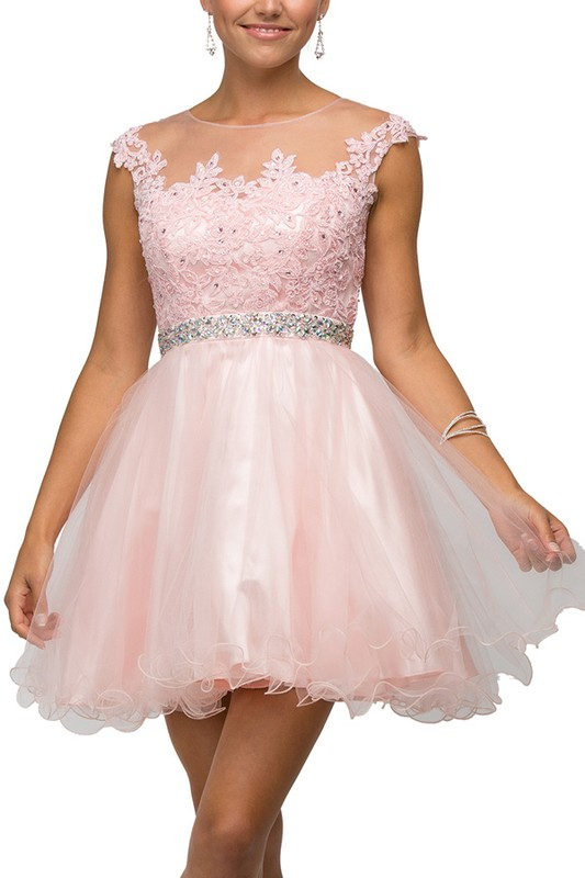Tulle Square Illusion Dress