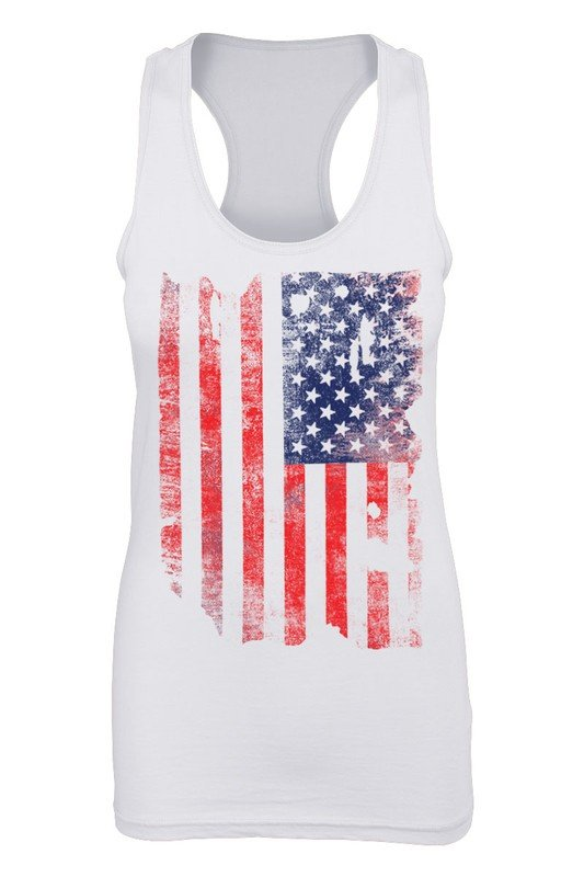 Faded American Flag Tank