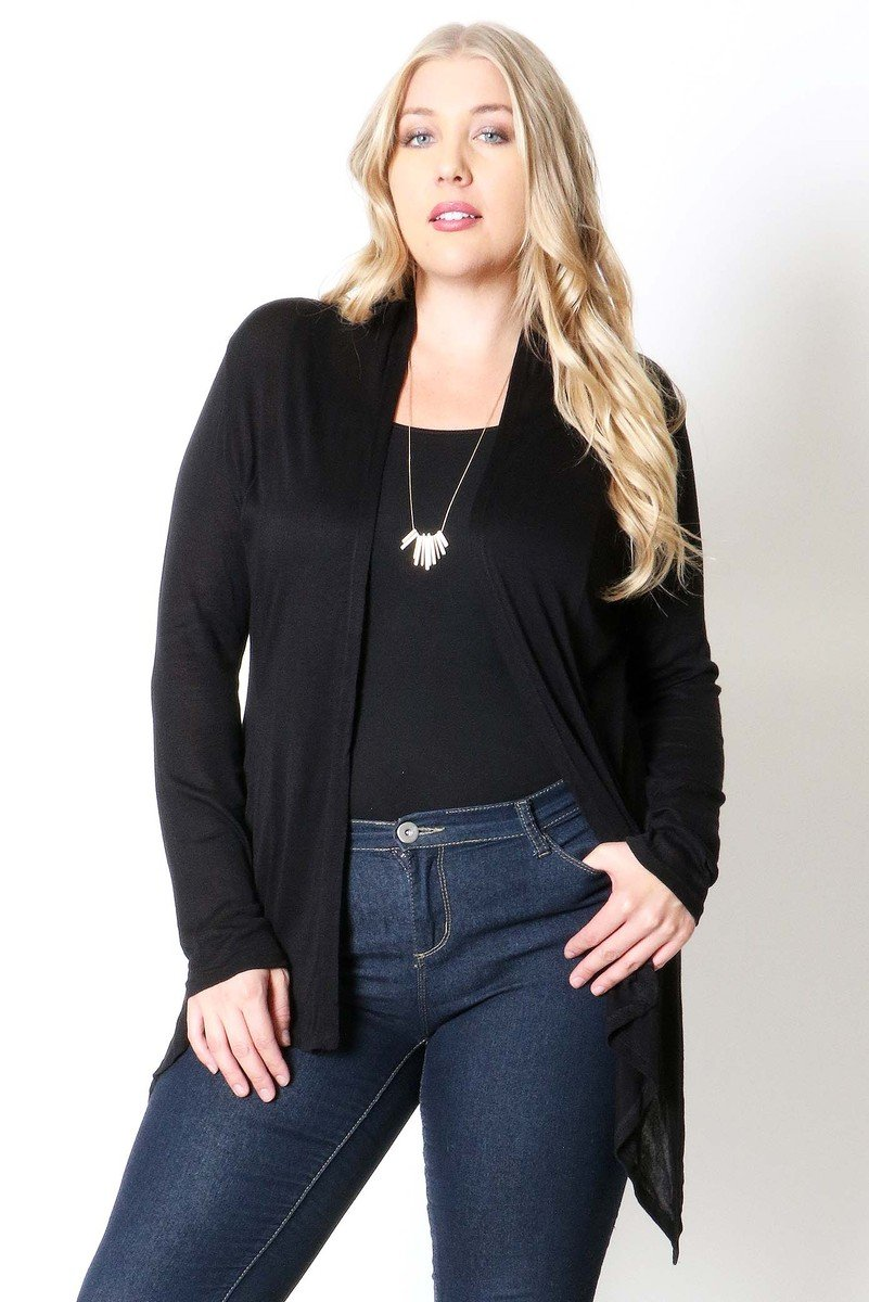 HACCI HIGH LOW OPEN CARDIGAN