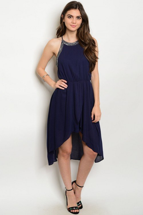 Halter Top Dress With High-Low
