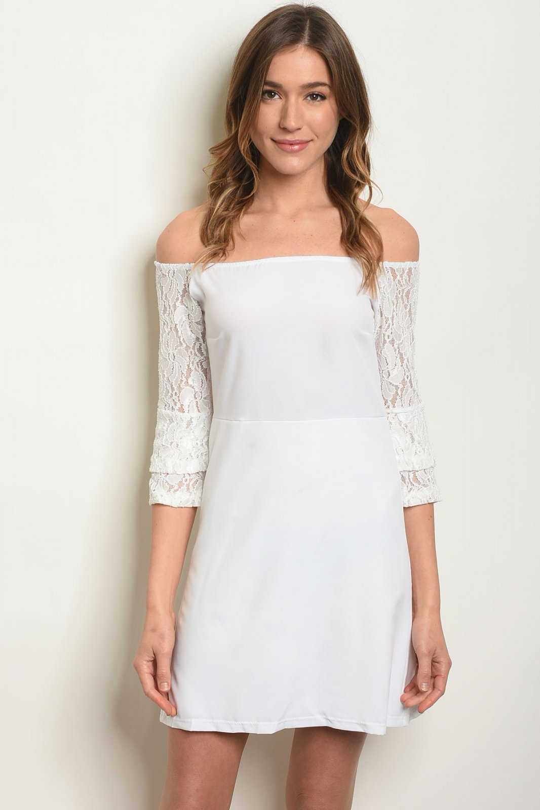 Off The Shoulder Off White Dress