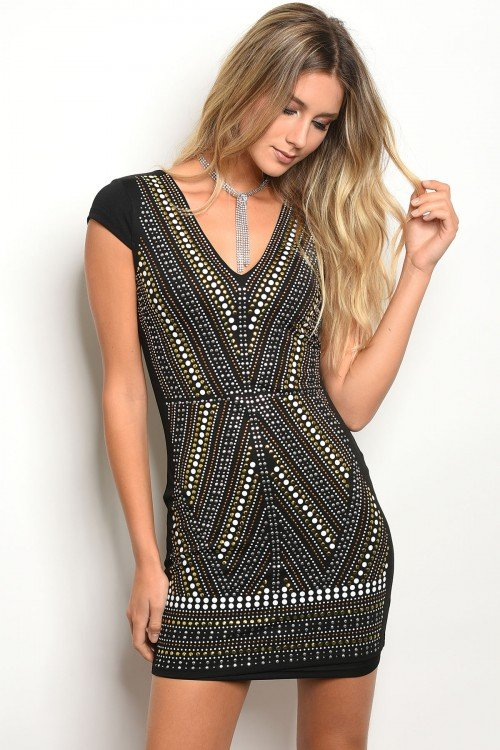 Black With Studs Dress