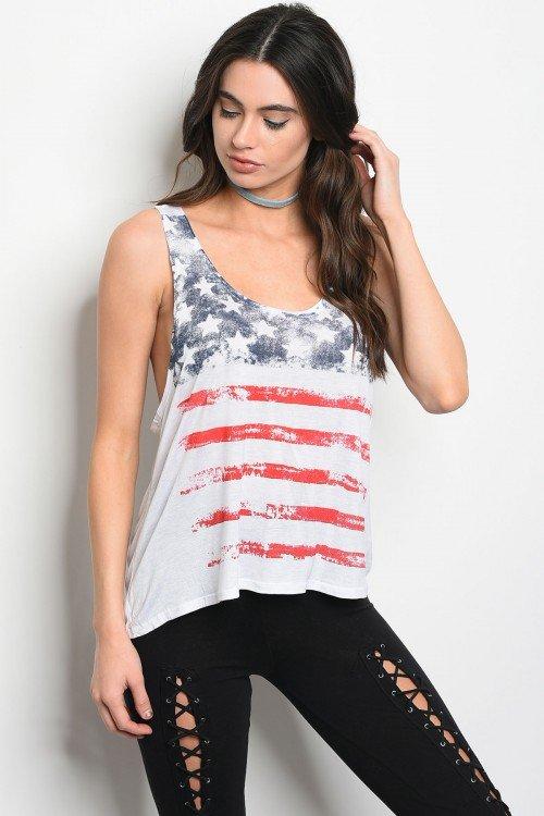 American Flag Tank Top