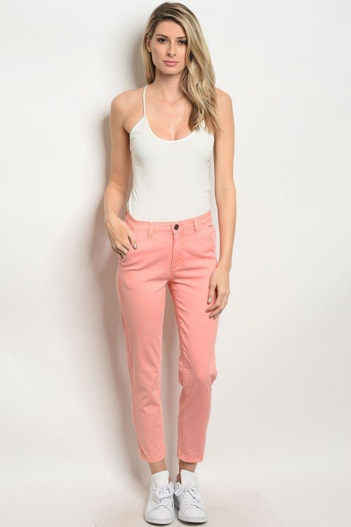 Peach Capri Pants