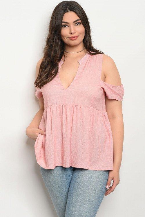 Rose Plus Size V-neck Top
