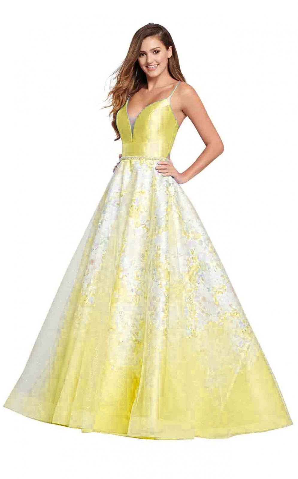 Yellow Mikado Ball Gown By Ellie Wilde