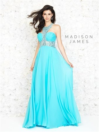 Flowing Long Gown Madison James by Allure