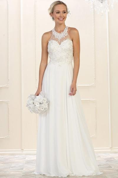 Jeweled Halter Top Wedding Dress