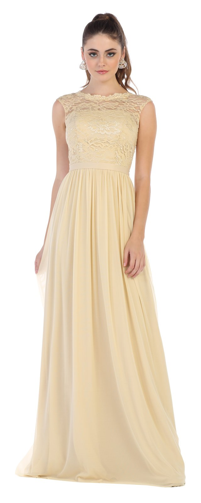 Champagne Halter Neck HOCO Dress With Metallic Skirt