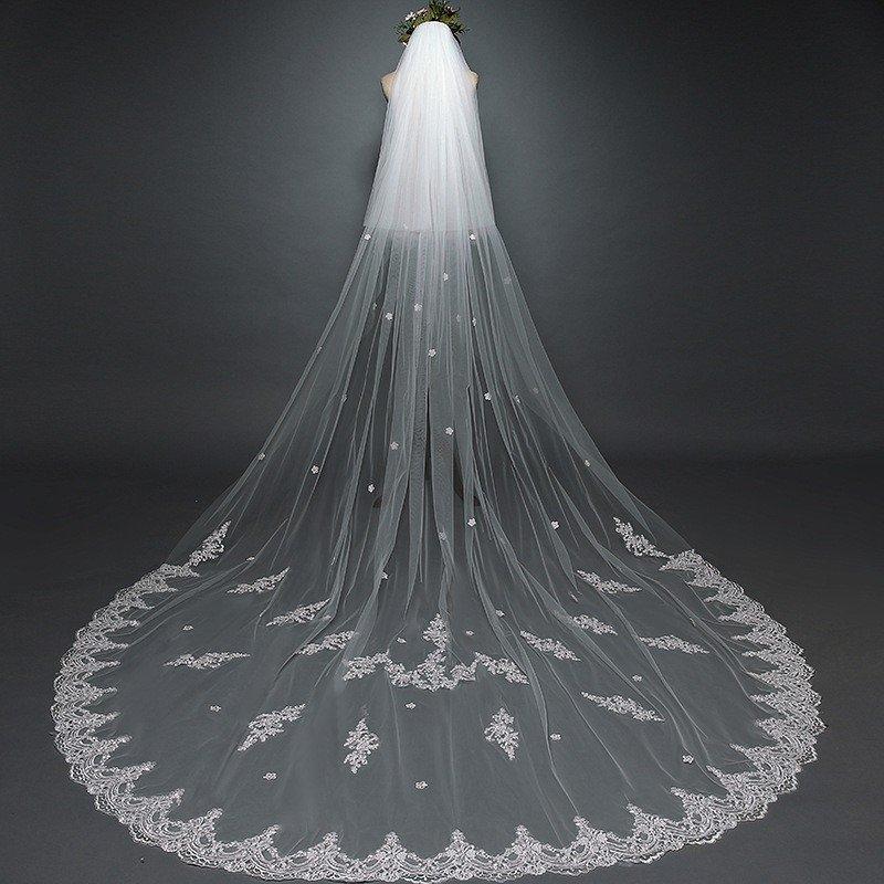Long Ivory Veil