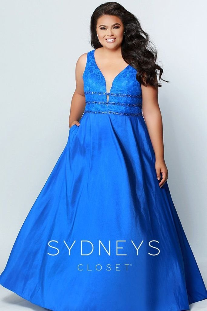 Royal Blue Whispers in the Night Prom Dress