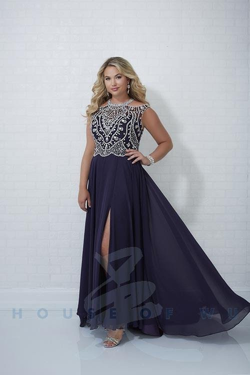 Aubergine Plus Size Prom Dress
