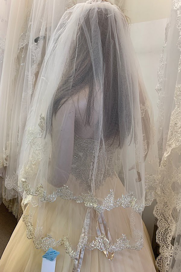 Champagne Veil -36 Inches