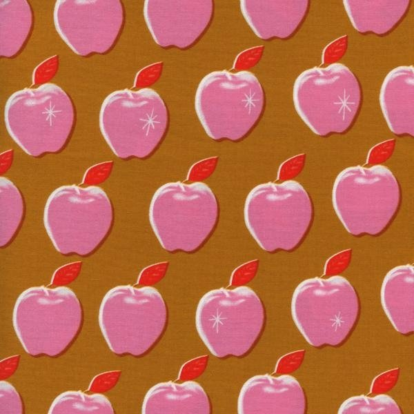 Cotton + Steel Melody Miller Picnic Apples Pink