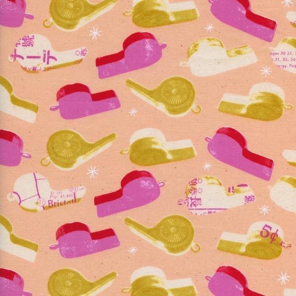 Cotton + Steel Melody Miller Trinket Whistles Pink