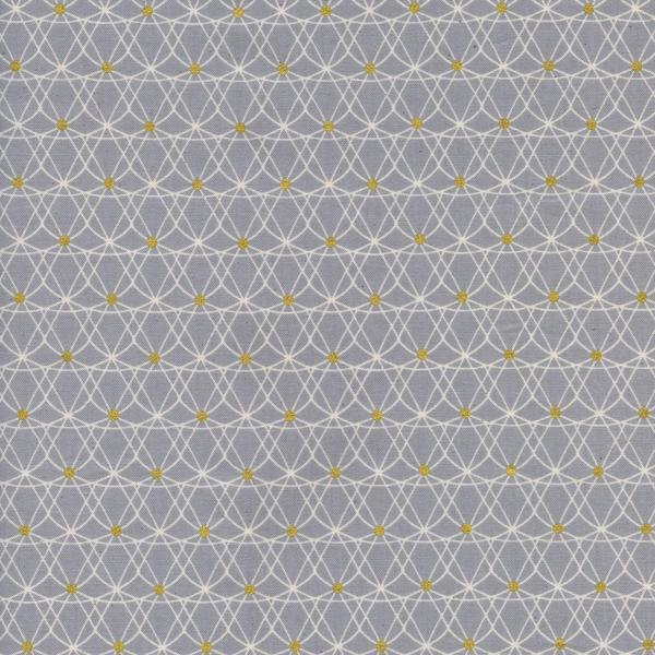 Cotton + Steel Melody Miller Jubilee! Crinoline Grey Metallic