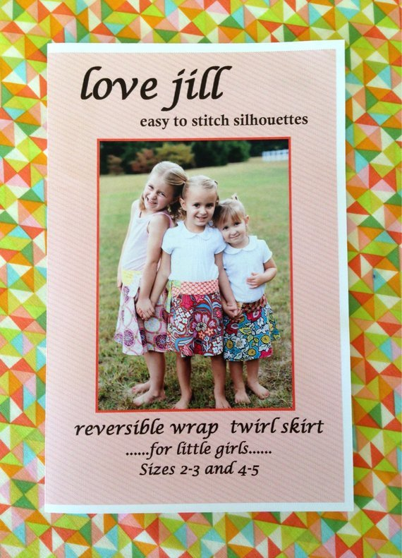 Love Jill Reversible Wrap Twirl Skirt Girls' sz 2-3/4-5