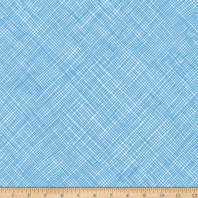 Robert Kaufman Blake Cotton Jersey Knit Grid Stratosphere 57