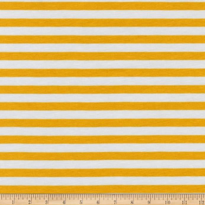 Robert Kaufman Blake Cotton Jersey Knit Stripe Silver 57