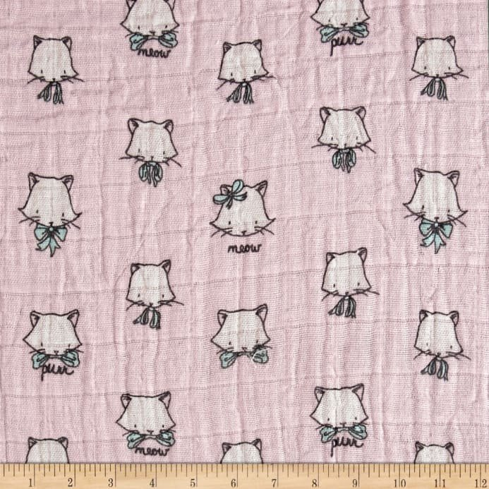 Shannon Fabrics Embrace Double Gauze Cat Nap