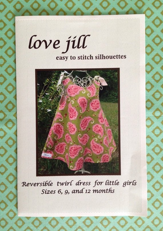 Love Jill Reversible Twirl Dress Girls sz 6,9,12mo