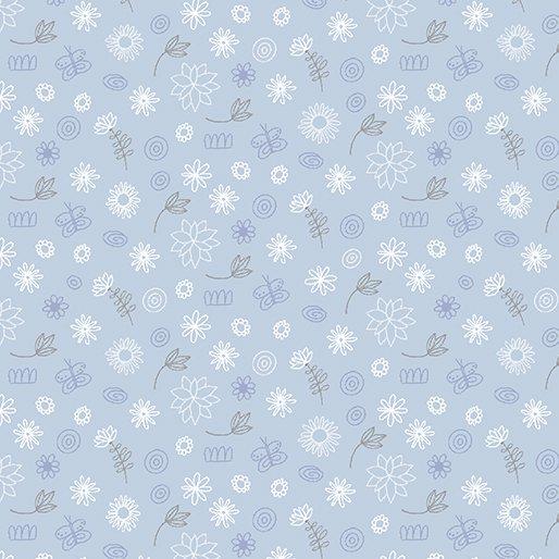 Benartex- Contempo Studio- Baby Buddies Doodads Blue 10284-05