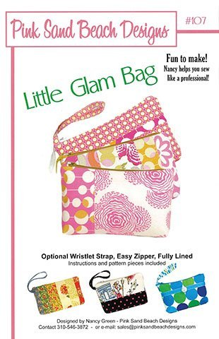 Pink Sand Beach Designs Little Glam Bag