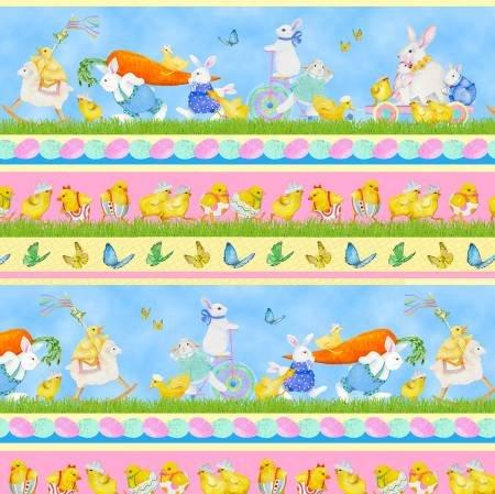 Henry Glass & Co. Easter Parade Multi Stripe Easter 1376-11