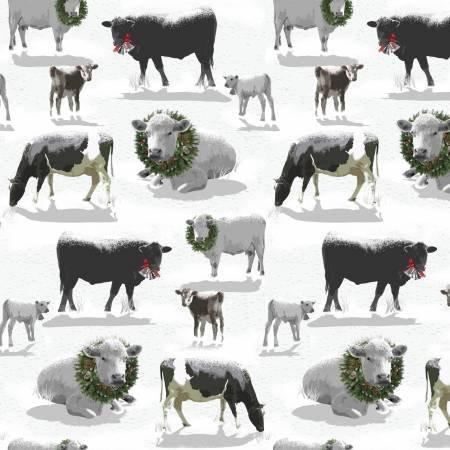 Henry Glass & Co. Grey Holiday Homestead Farm Animals Christmas