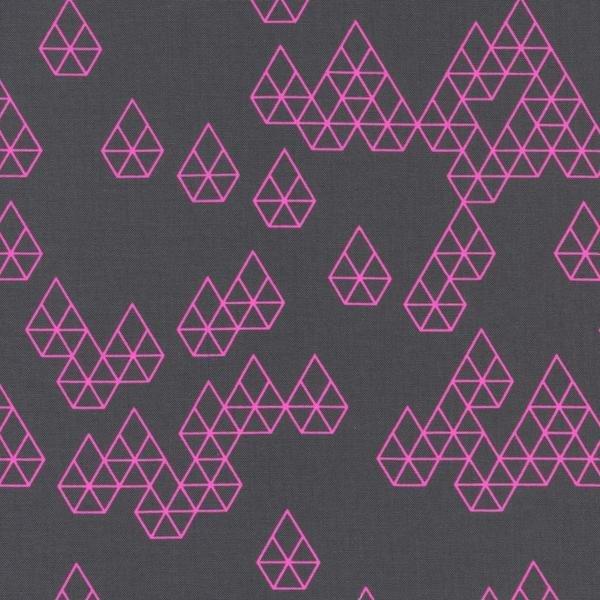 Cotton + Steel Rashida Coleman-Hale Raindrop Geo Drops Charcoal