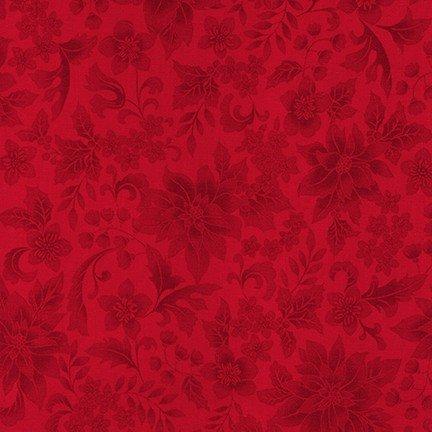 Robert Kaufman Holiday Flourish 12- Red