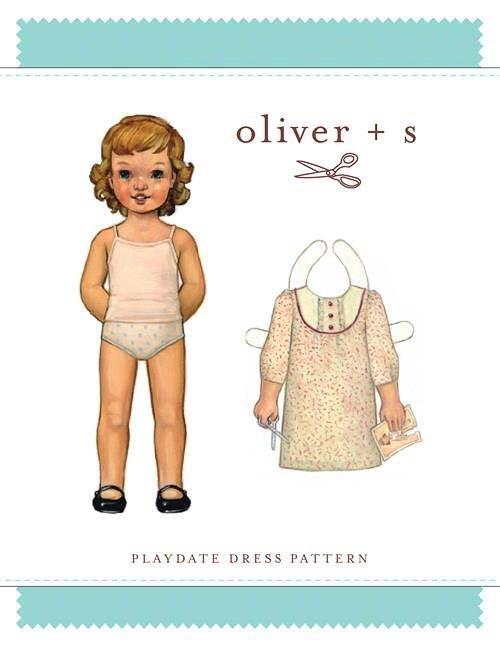 Oliver + S Playdate Dress Pattern sz 4-8