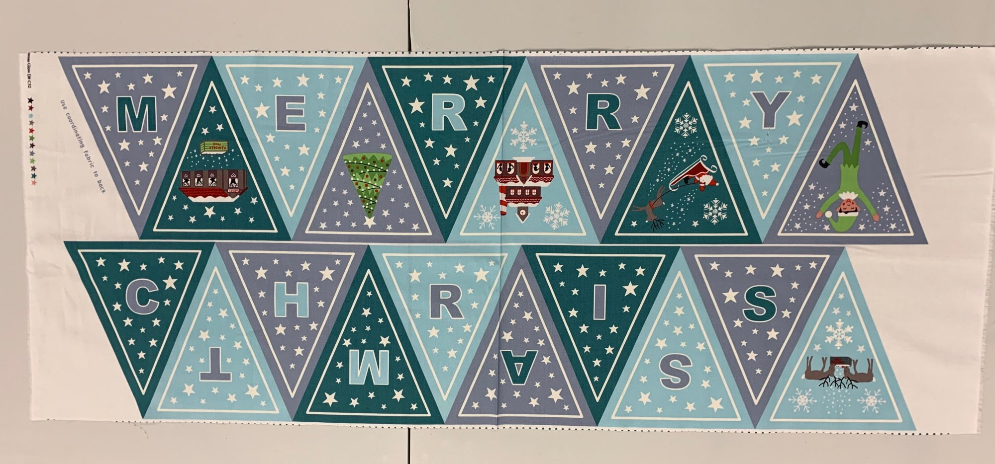 Lewis & Irene Christmas Glow Bunting Banner