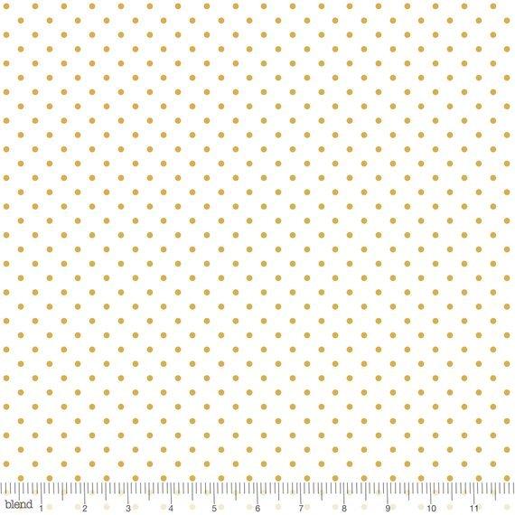 Blend Maude Asbury Snowflake Waltz Gold Polka Dot