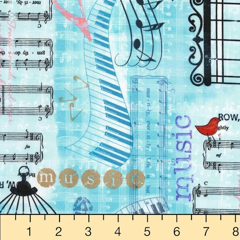 Timeless Treasures Sew Musical