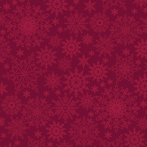 Benartex Tonal Snowflake Dark Red (A Festive Season 3)