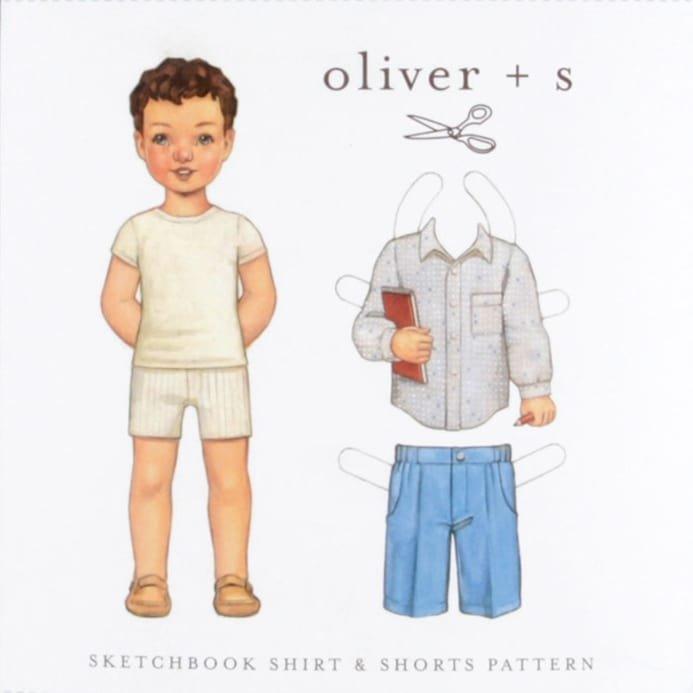 Oliver + S Sketchbook Shirt & Shorts Pattern sz 5-12