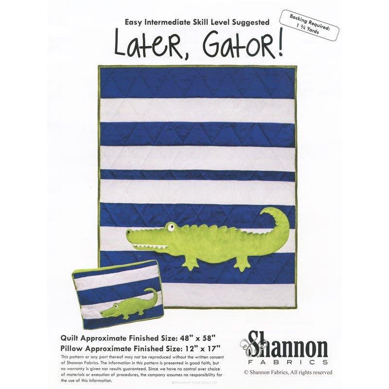 Shannon Fabrics Later, Gator Quilt Kit