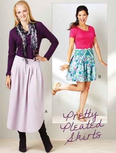 Kwik Sew 3914 Pretty Pleated Skirts sz xs-xl